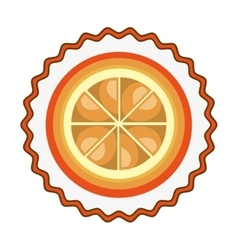 Orange fresh fruit isolated icon vector