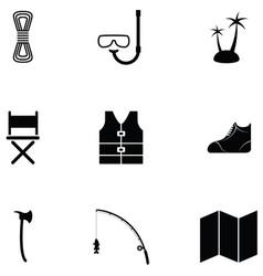 outdoor icon set vector image