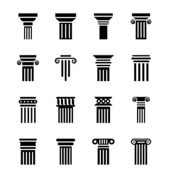 Pillar drawings icons vector