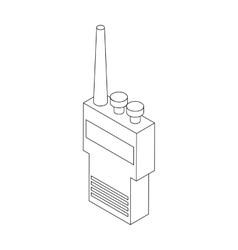 Portable handheld radio icon isometric 3d style vector
