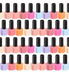 Realistic Nail Polish Seamless Pattern Background vector image