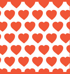 red hand drawn hearts seamless background vector image