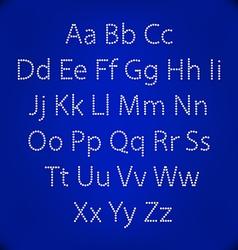Retro Lightbulb Alphabet Glamorous showtime vector image