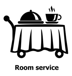 room service icon simple black style vector image