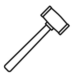 Rubber hammer icon outline style vector