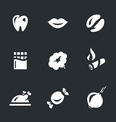 set of caries icons vector image