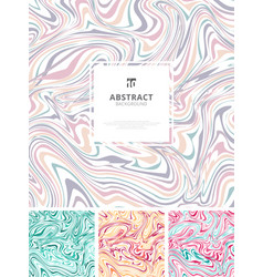 set template abstract hand drawn ink wavy vector image