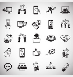 social network and connections on white background vector image