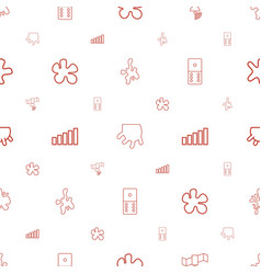 Spot icons pattern seamless white background vector