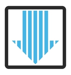 Stripe Arrow Down Framed Icon vector