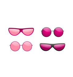 Sunglasses round icon pink sun glasses isolated vector