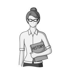 Teacherprofessions single icon in monochrome vector