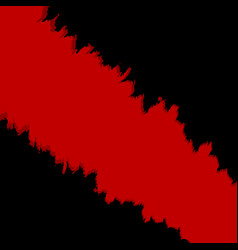 texture ripped paper in red and black colours vector image
