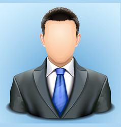 User icon man in business suit vector