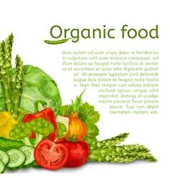 Vegetables set background vector image