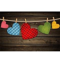 Vintage paper hearts vector image