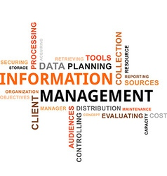 Word cloud information management vector