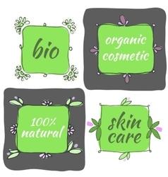 hand drawn organic icons vector image