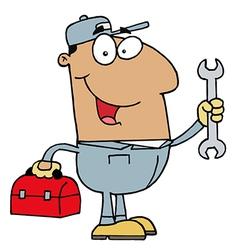 Hispanic Mechanic Guy vector image