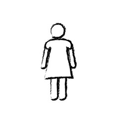 monochrome sketch of pictogram woman vector image vector image
