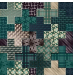 Seamless Cross Quilt Patchwork Pattern In vector image vector image