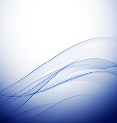 abstract elegant blue wave background vector image vector image