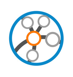 circular link globe technology logo graphic design vector image