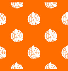 handset and globe pattern seamless vector image vector image