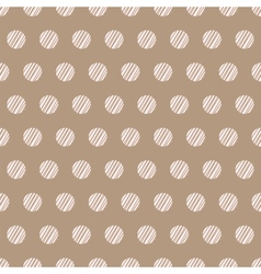 Vintage brown background with grunge polka dots vector image vector image