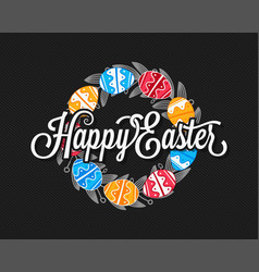 easter eggs vintage design background vector image vector image