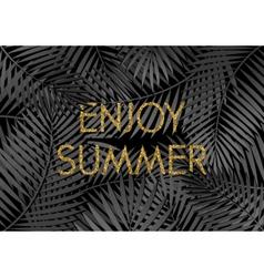 Enjoy Summer Poster Design vector image vector image