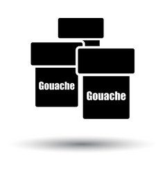Gouache can icon vector