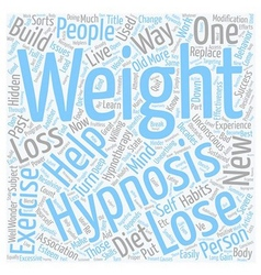 How Hypnosis Can Help On Weight Loss text vector image