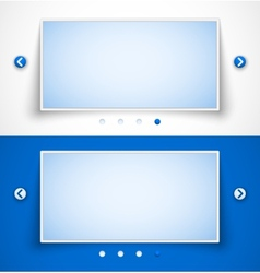 Set of web image sliders vector image vector image