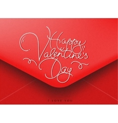 Valentines envelope red vector image vector image