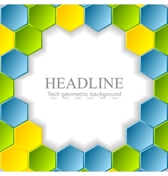 Abstract bright hexagons pattern design vector image