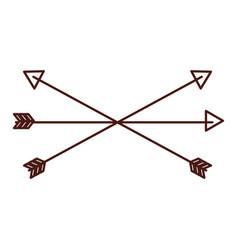 Brown arrow symbol icon vector