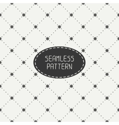 Geometric floral seamless pattern with flowers vector image