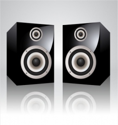 loudspeakers vector image
