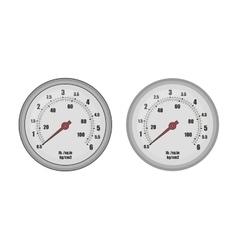 Pressure gauge bar vector image vector image