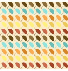 Seamless pattern with umbrellas in retro style vector image