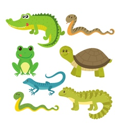 Set of creeping things Wild animals vector image vector image
