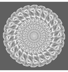 white round pattern on gray vector image