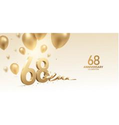 68th anniversary celebration background vector