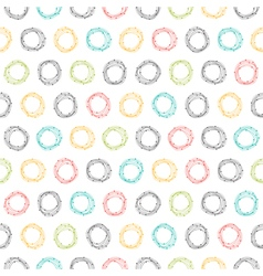 Abstract seamless pattern with hand drawn circles vector image