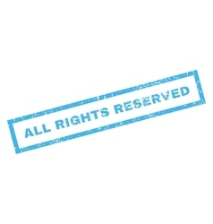 All Rights Reserved Rubber Stamp vector image
