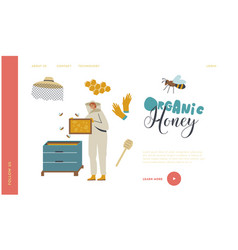 Apiculture honey production beekeeping landing vector