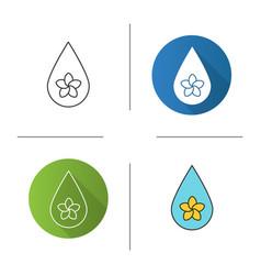 Aromatherapy oil drop icon vector