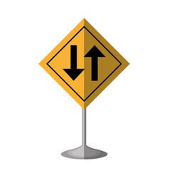 Arrows guide traffic signal vector