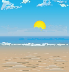 Beach on the ocean vector image